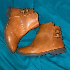 Camel Brown Toddler Ankle Boots